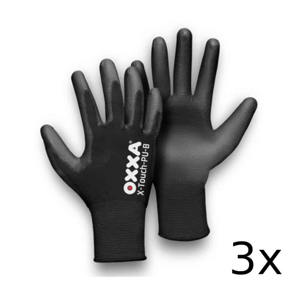 Oxxa X-touch-pu Black (3-pack) Maat 9