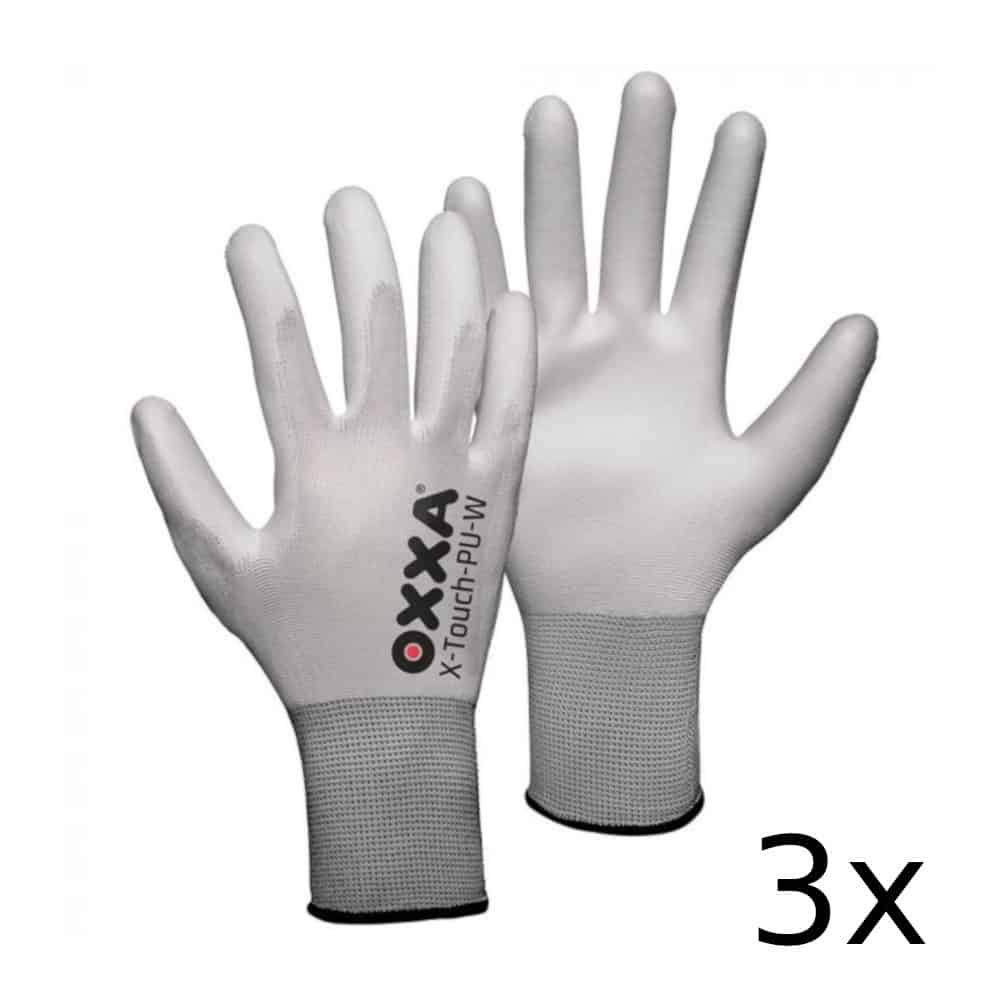 Oxxa X-touch-pu White (3-pack) Maat 9