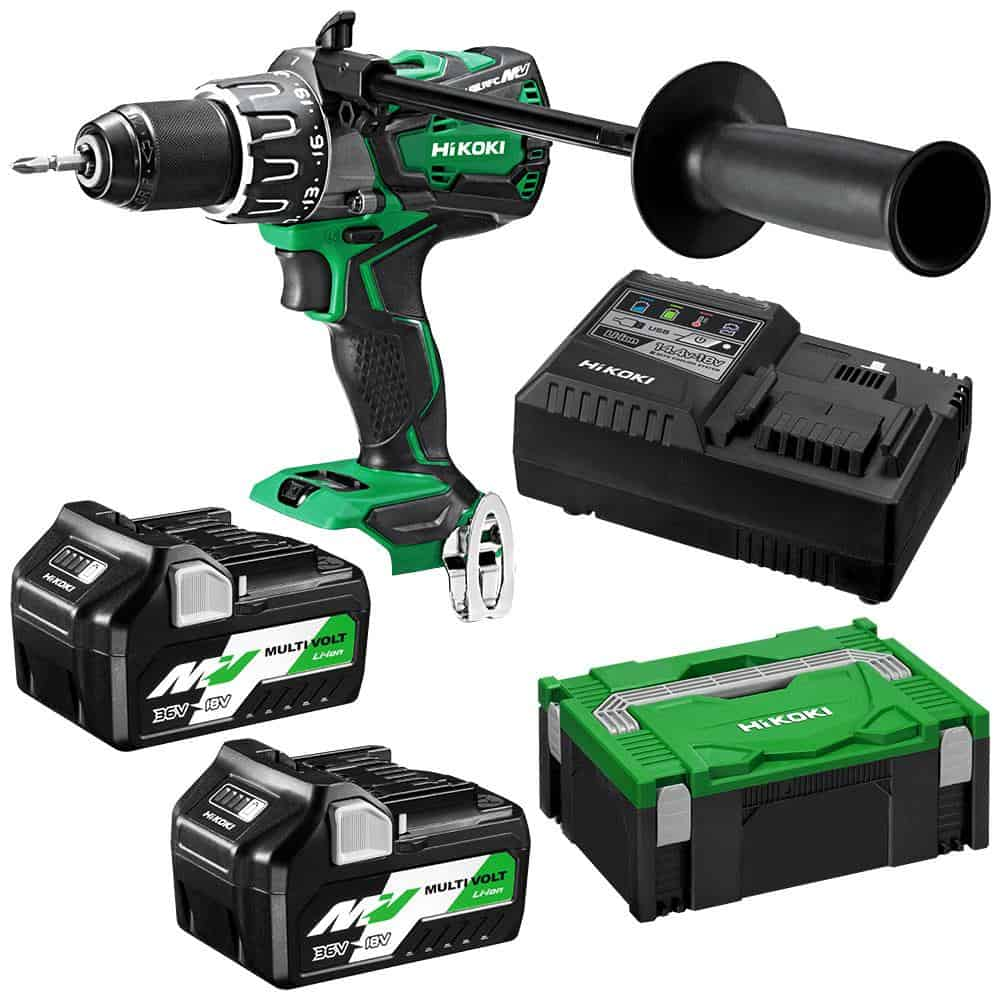 Hikoki High-torque Drill Kit Incl. Charger & 2x Battery